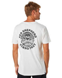 WHITE MENS CLOTHING SEA SHEPHERD TEES - SSA889BWHT