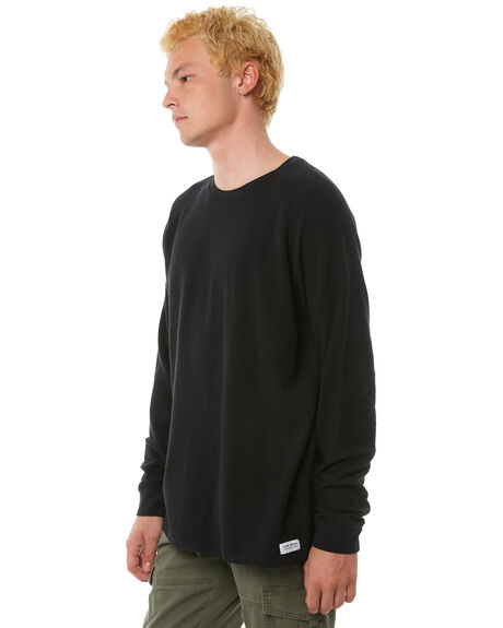 DIRTY BLACK MENS CLOTHING BANKS JUMPERS - WFL0121DBL