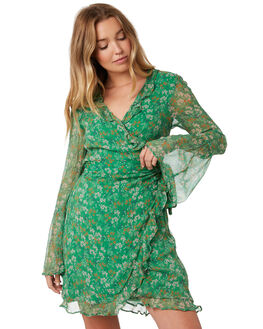 MOSS FLORAL WOMENS CLOTHING STEVIE MAY DRESSES - SL190501DMFLOR
