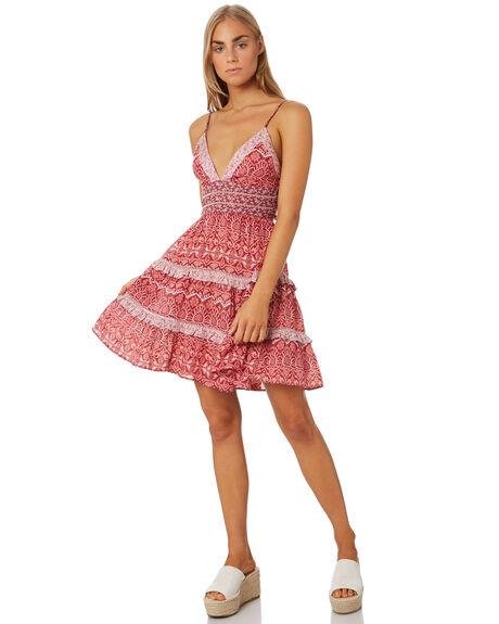 BURGUNDY WOMENS CLOTHING TIGERLILY DRESSES - T305454BUR