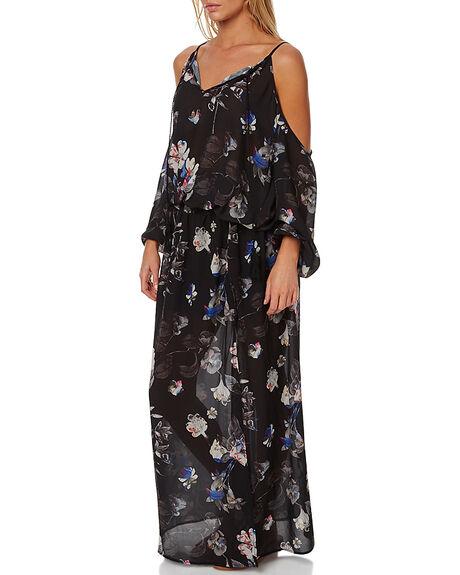 BLACK WOMENS CLOTHING RUSTY DRESSES - DRL0843BLK