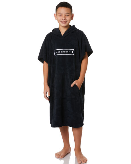 BLACK KIDS BOYS MODOM TOWELS - MOPONKBLK