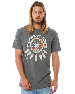 CHARCOAL MENS CLOTHING ALOHA ZEN TEES - AZ513CHAR