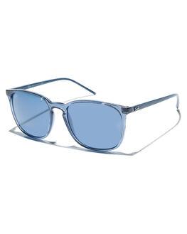 TRANSPARENT BLUE MENS ACCESSORIES RAY-BAN SUNGLASSES - 0RB4387TBLU