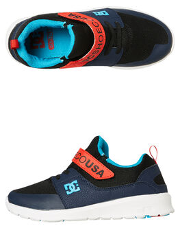 BLACK RED KIDS BOYS DC SHOES SNEAKERS - ADBS700064XKRB
