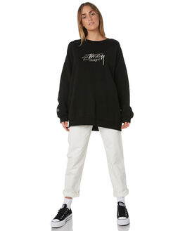 BLACK WOMENS CLOTHING STUSSY JUMPERS - ST191304BLK