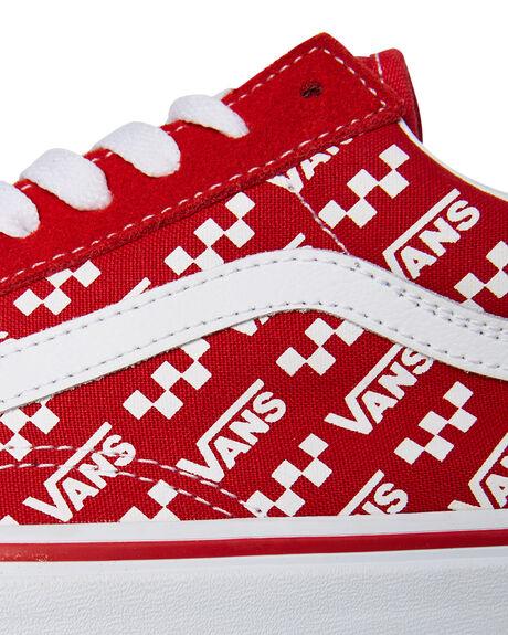 RACING RED MENS FOOTWEAR VANS SNEAKERS - SSVN0A4U3BW35RREDM