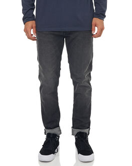BLACK MENS CLOTHING QUIKSILVER JEANS - EQYDP03358KVJ0