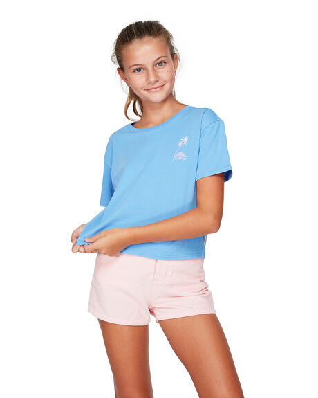 CRNFLWER BLU KIDS GIRLS BILLABONG TOPS - BB-5592001-FWB