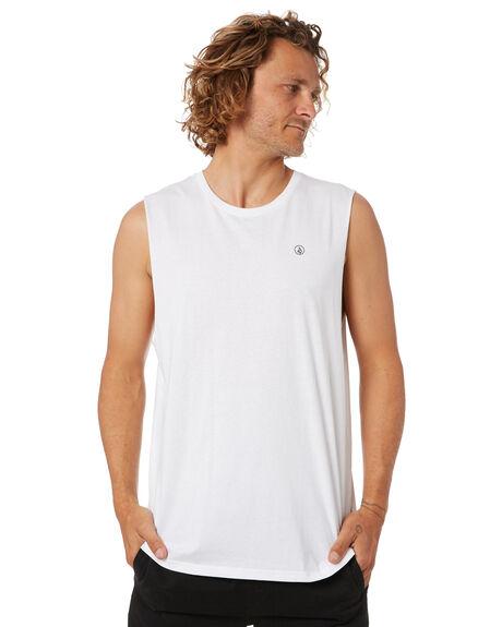 WHITE MENS CLOTHING VOLCOM SINGLETS - A3742073WHT