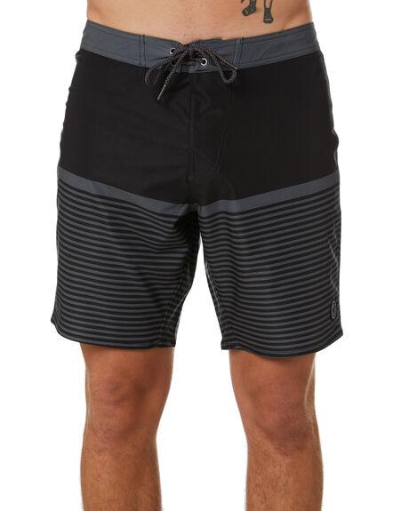 BLACK MENS CLOTHING STAY BOARDSHORTS - SBO-20410BLK
