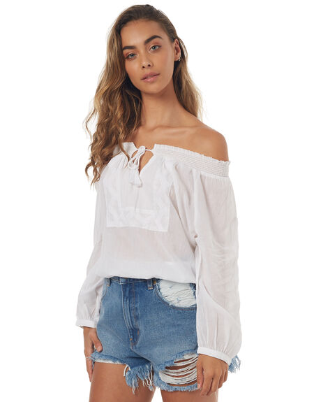 WHITE WOMENS CLOTHING BILLABONG FASHION TOPS - 6571093WHT