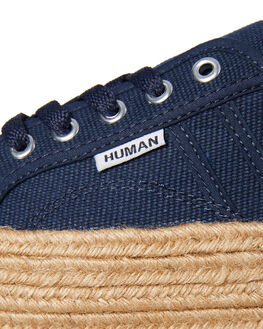 DENIM NAVY WOMENS FOOTWEAR HUMAN FOOTWEAR SNEAKERS - CHARDNVY
