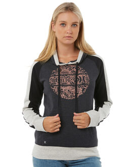 DARK HEATHER GREY WOMENS CLOTHING HURLEY JUMPERS - AGFLPHLKDHG