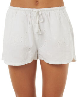 WHITE WOMENS CLOTHING ALL ABOUT EVE SHORTS - 6401049WHT