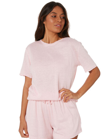 POWDER PINK WOMENS CLOTHING ZULU AND ZEPHYR TEES - ZZ3301PPNK