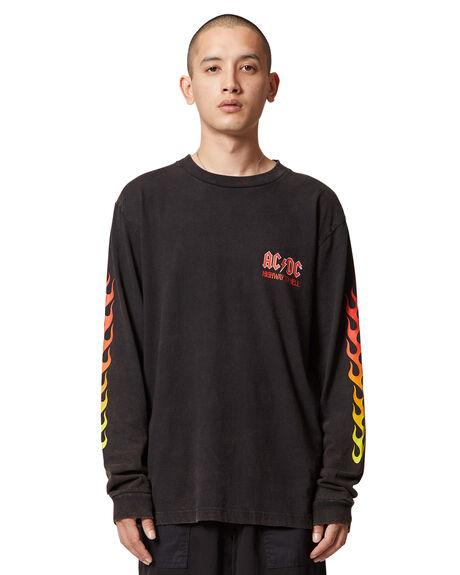BLACK MENS CLOTHING DC SHOES TEES - ADYZT04983-KVJ0