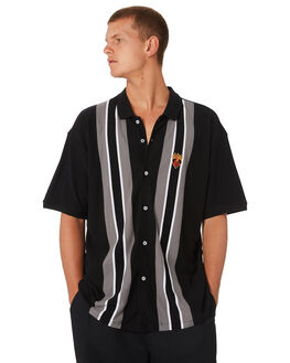 BLACK MULTI MENS CLOTHING OBEY SHIRTS - 131090046BKM