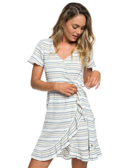 DRESS BLUE HORIZ WOMENS CLOTHING ROXY DRESSES - ERJWD03333-BTK8
