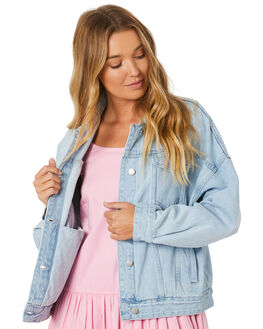 WASHED BLUE WOMENS CLOTHING ZULU AND ZEPHYR JACKETS - ZZ2973WBLUE