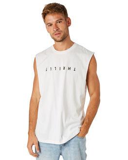 DIRTY WHITE MENS CLOTHING THRILLS SINGLETS - TS8-115ADTWHT
