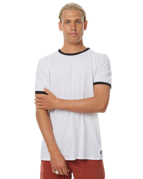 WHITE BLACK MENS CLOTHING SWELL TEES - S5174016WBLK