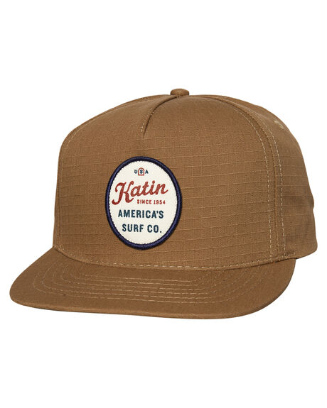 KHAKI MENS ACCESSORIES KATIN HEADWEAR - HTOYL01KHA