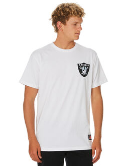 RAIDERS WHITE MENS CLOTHING MAJESTIC TEES - MOR7020WBWHT
