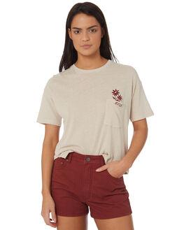 STONE WOMENS CLOTHING RVCA TEES - R282047STONE