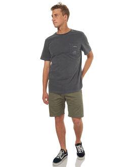 BLACK MENS CLOTHING RVCA TEES - R172055BLK