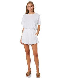 WHITE WOMENS CLOTHING NUDE LUCY TEES - NU23456WHT