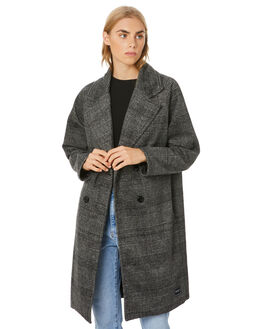 CHARCOAL PLAID WOMENS CLOTHING RPM JACKETS - 20WW19ACHAR