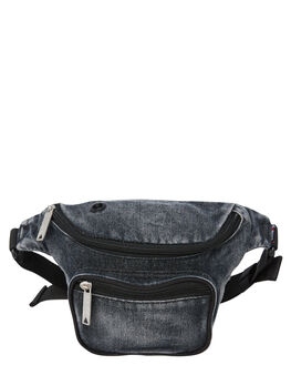 WASHED BLACK MENS ACCESSORIES THE BUMBAG CO BAGS + BACKPACKS - DB035WSHBL