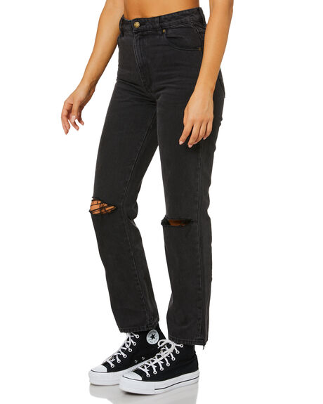 STONE BLACK WOMENS CLOTHING ROLLAS JEANS - 13789-460