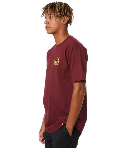 BURGUNDY MENS CLOTHING SPITFIRE TEES - 51010686BRG