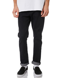BLACK MENS CLOTHING RUSTY JEANS - PAM0965BLK