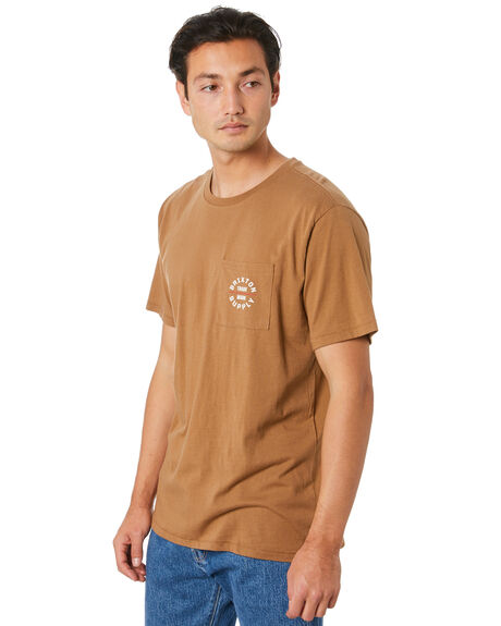 COCONUT MENS CLOTHING BRIXTON TEES - 16185COCO