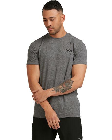 CHARCOAL HEA MENS CLOTHING RVCA TEES - RV-R307041-C94