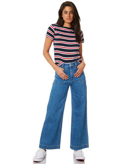 CRYSTAL BLUE WOMENS CLOTHING ROLLAS JEANS - 12697-1492