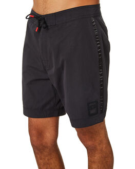 BLACK MENS CLOTHING HIGHLINE BOARDSHORTS - R193400BLK
