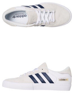 Men's Canvas & Plimsolls ADIDAS Seeley Shoes WhiteVast Grey
