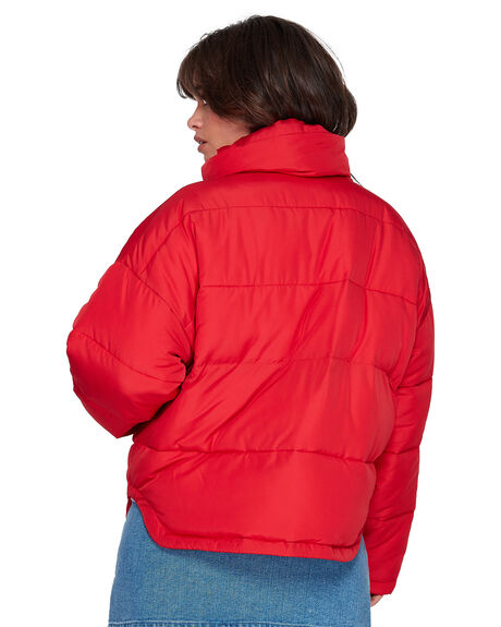 RED WOMENS CLOTHING ELEMENT JACKETS - EL-296457-RED