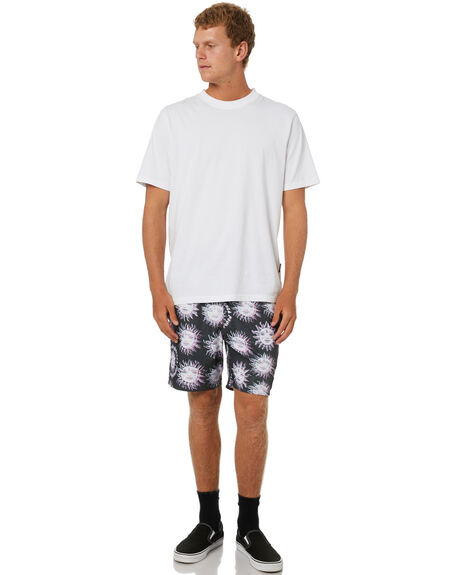 BLACK MENS CLOTHING VOLCOM BOARDSHORTS - A2512104BLK