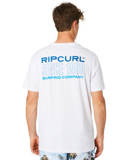 WHITE MENS CLOTHING RIP CURL TEES - CTEQB21000
