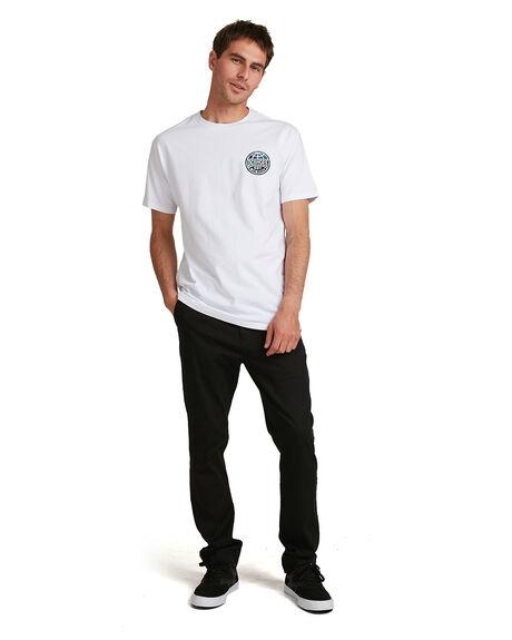 WHITE MENS CLOTHING DC SHOES TEES - UDYZT03777-WBB0