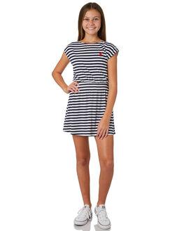 NAVY WHITE KIDS GIRLS EVES SISTER DRESSES + PLAYSUITS - 9920082STR
