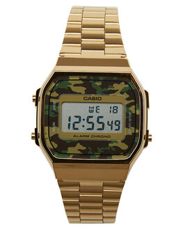 CAMO GOLD MENS ACCESSORIES CASIO WATCHES - A168WEGC3EFCGLD