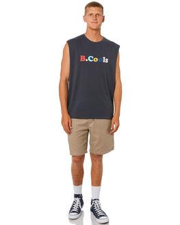 INK BLACK MENS CLOTHING BARNEY COOLS SINGLETS - 132C-CR3INBLK