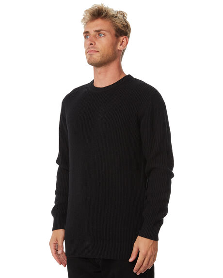 BLACK MENS CLOTHING SWELL KNITS + CARDIGANS - S5184147BLACK