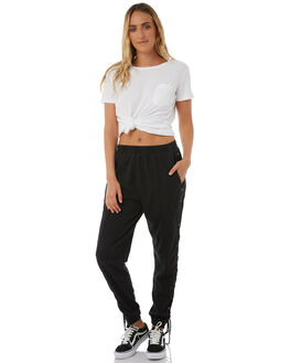 BLACK WOMENS CLOTHING STUSSY PANTS - ST185609BLK